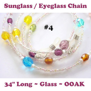 Eyeglass Sunglass Chain #4 Single Strand Brights